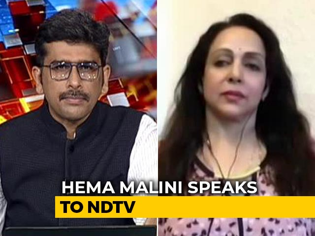 "Video : ""Hurtful When They Ridicule Industry"": Hema Malini To NDTV On Drugs Row"