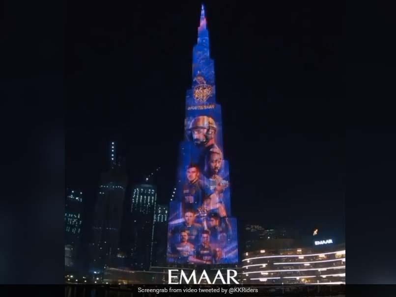 IPL 2020, KKR vs MI: Burj Khalifa Lights Up In KKR Colours. Watch