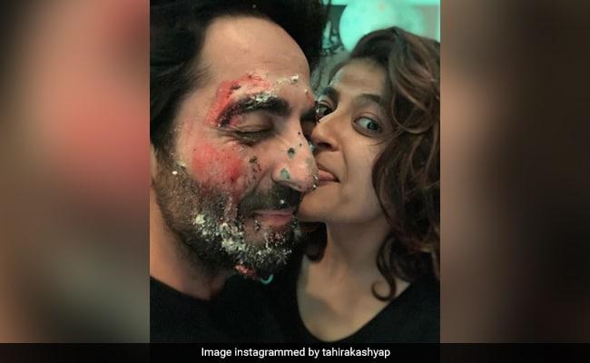 On Husband Ayushmann Khurrana's Birthday, Tahira Relishes This Special Cake.