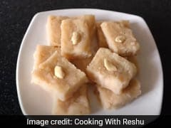 Make Coconut (<i>Nariyal</i>) Barfi With Bread In Just 15 Mins - Watch Recipe Video