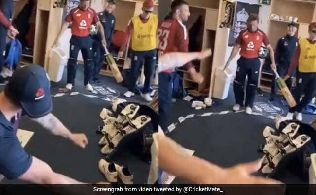 ENGvAUS England players celebrate the series win over Australia with a unique dance Watch video