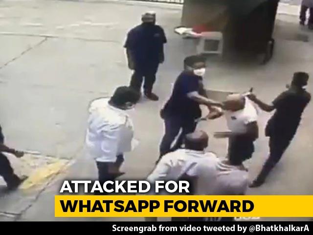 Video : In Video, Ex-Navy Officer Beaten For Sharing Uddhav Thackeray Cartoon