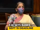 Video : Roll Out Loan Resolution Schemes By Mid-September: Nirmala Sitharaman To Banks