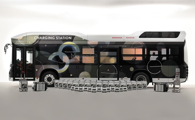 The bus works as a mobile charging station that will help provide electricity in disaster prone areas