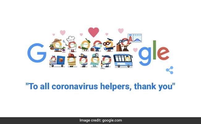 Google Doodle Says, 'Thank You Coronavirus Helpers'