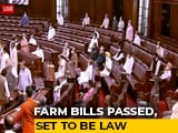 Video : Farm Bills Clear Parliament Amid Unprecedented Drama In Rajya Sabha