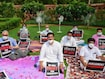 8 Suspended Rajya Sabha Members Refuse To Leave, Later Protest Outside