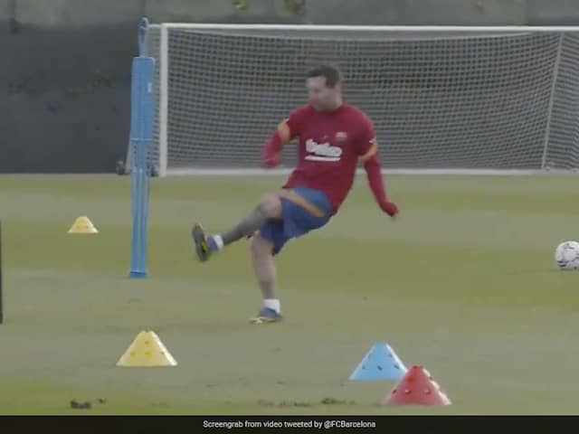Watch: Lionel Messi Resumes Training With FC Barcelona