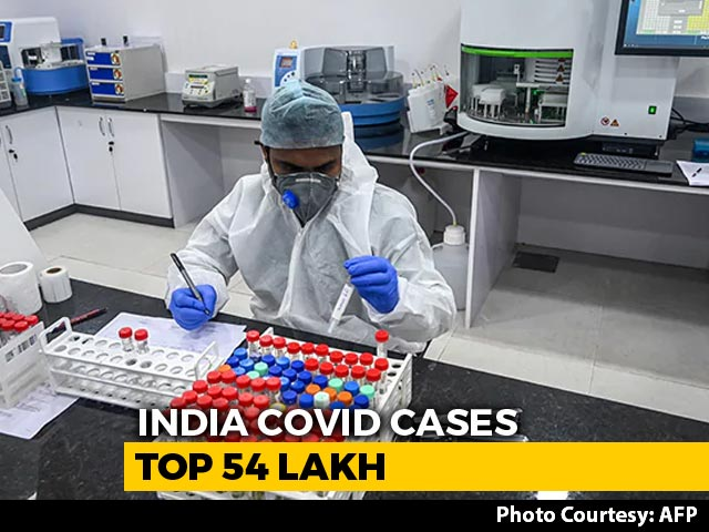Video : India's Covid Tally Passes 54-Lakh Mark, 92,605 New Cases In A Day
