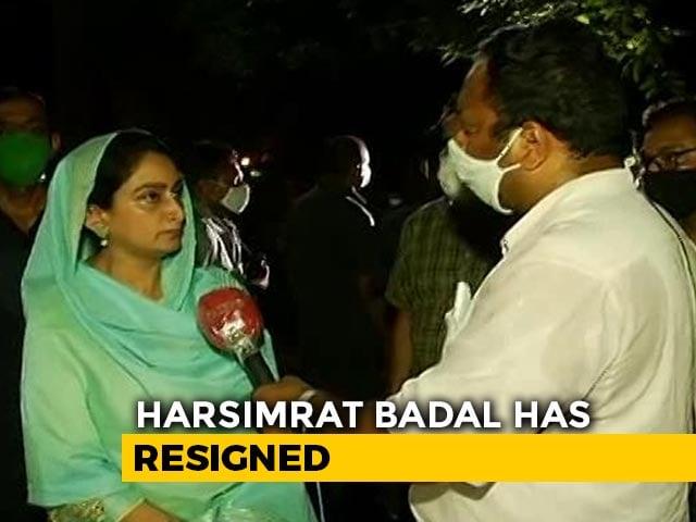 Video : Harsimrat Badal Quits PM's Cabinet, Farm Bills Clear Lok Sabha