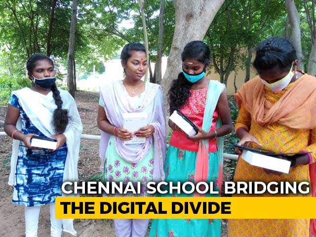 Video : Chennai School Gives Free Tablets To Students To Overcome Digital Divide