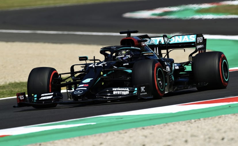 Lewis Hamilton set a new F1 track record at Mugello with a lap time of 1m15.144s