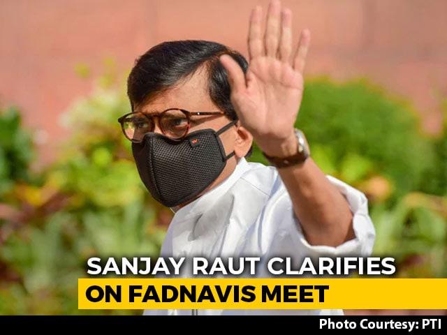 "Video : ""Not Politics"": Sanjay Raut, Devendra Fadnavis Meet At Hotel Sparks Buzz"