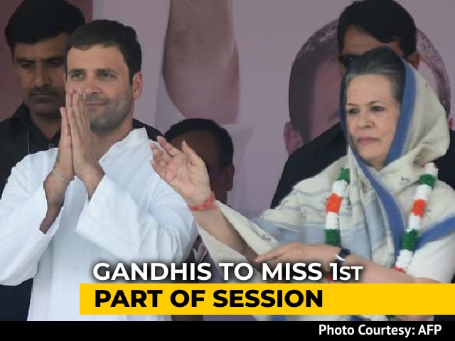Video: Sonia Gandhi, Son Rahul To Miss First Part Of Parliament Session