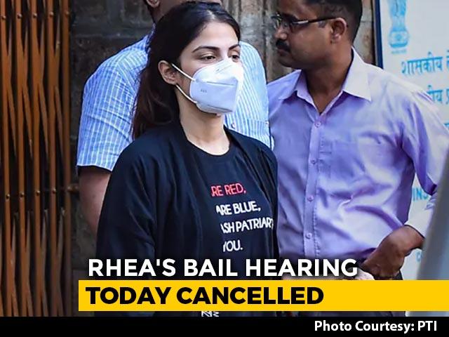 Video : Rhea Chakraborty's Bail Hearing Tomorrow, Court Holiday Today Due To Rain