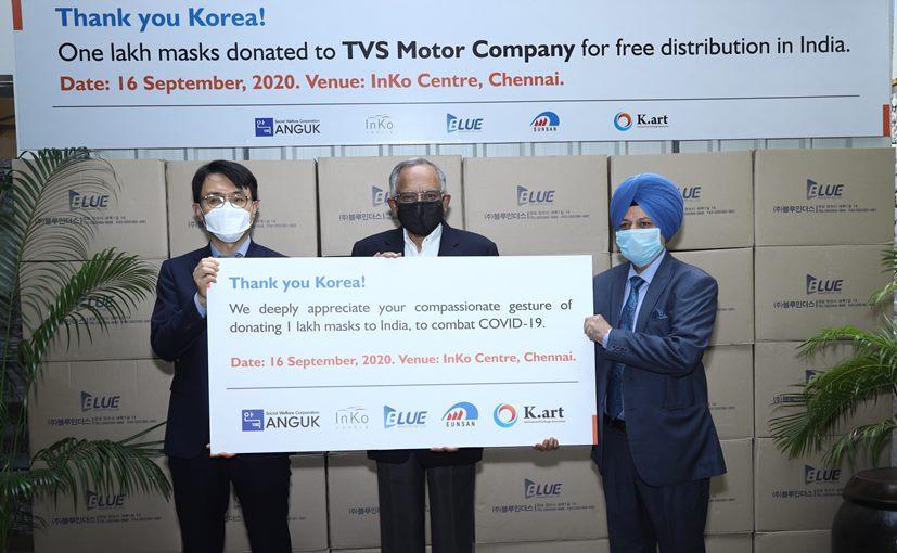 Young-seup Kwon, Consul General Of Korea in Chennai with Venu Srinivasan, Chairman, TVS