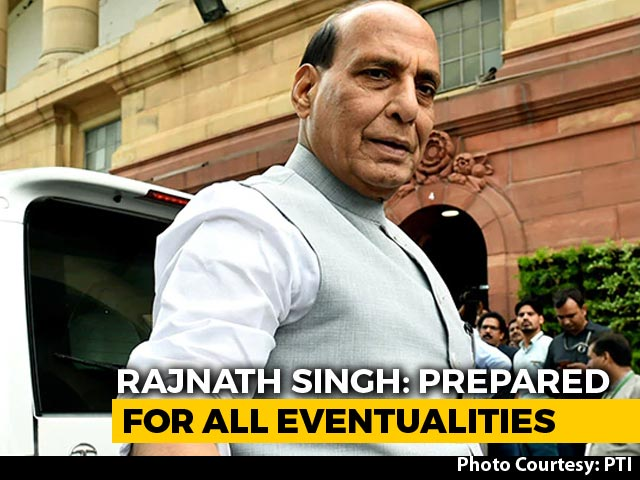 """Video : """"India Foiled China's Move"""": Rajnath Singh In Parliament"""