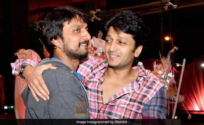 To Birthday Boy Kiccha Sudeep, A 'Big Hug' From Riteish Deshmukh