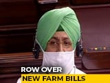 "Video : ""Death Warrant For Farmers"": Congress As Farm Bills Tabled In Rajya Sabha"