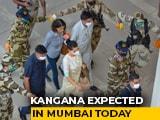 """Video : Kangana Ranaut Heads To Mumbai, Tweets On """"Maharashtra Government Goons"""""""