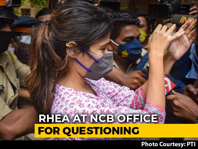 Video : Rhea Chakraborty Questioned In Sushant Singh Drugs Probe, Mobbed By Media