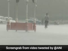 Heavy Rain, Thunderstorm Hit Delhi, Waterlogging In Several Areas