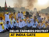 Video : Tractor Set On Fire At India Gate To Protest Farm Bills, Live-Streamed