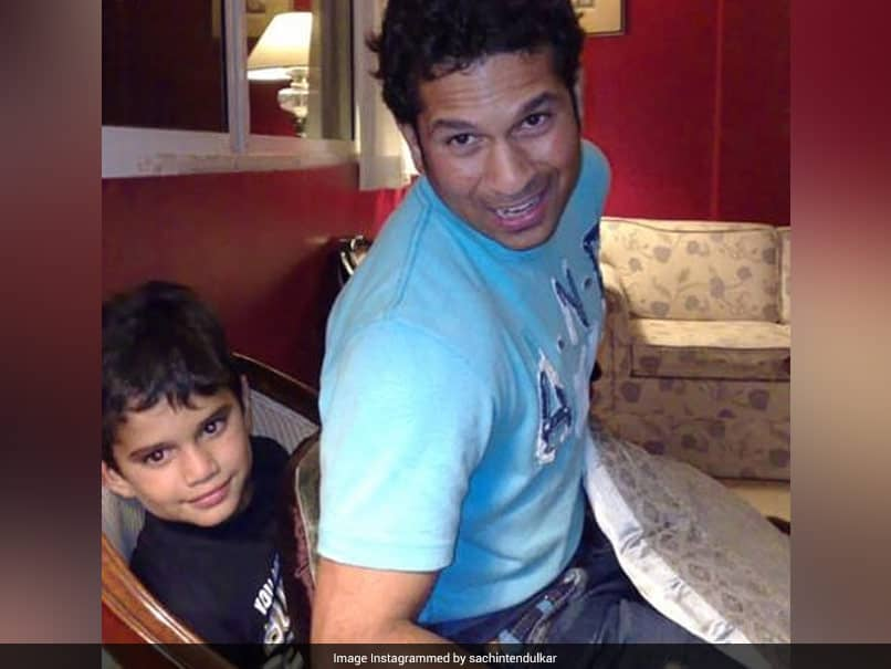 """When They Tell You To Baby Sit"": Sachin Tendulkar Shares Throwback Pic"