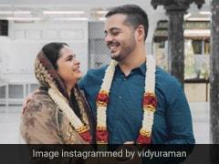 तेलुगु एक्ट्रेस विद्युलेखा रमन ने अपने पार्टनर संजय संग चैन्नई में की सगाई, देखें Photos