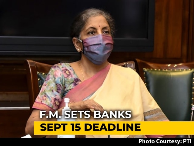 Video: Roll Out Loan Resolution Schemes By Mid-September: Nirmala Sitharaman To Banks
