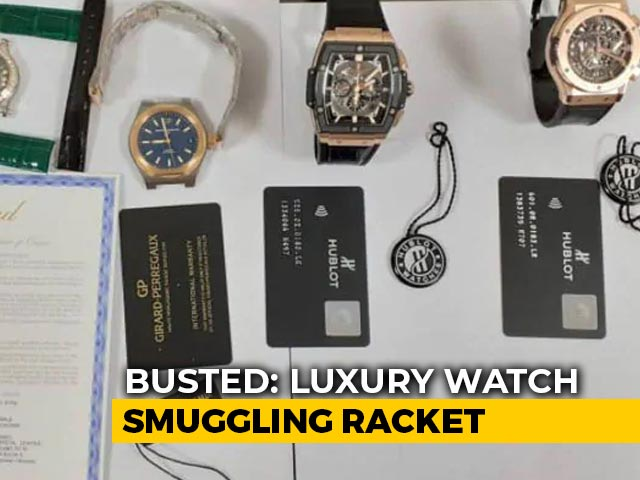 Video : Luxury Watches Worth ₹ 3 Crore Seized In Delhi, Smuggling Racket Busted