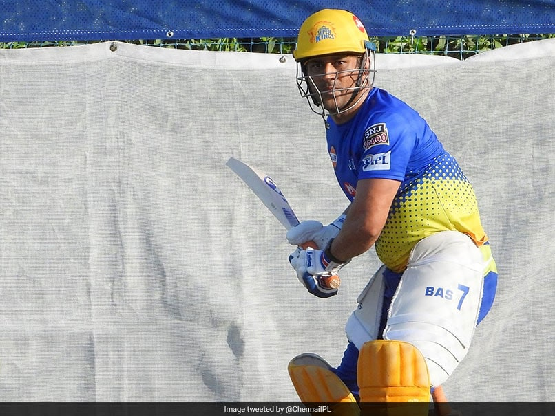 """IPL 2020: """"Its All In The Ice"""", MS Dhoni Hits The Nets At Chennai Super Kings"""