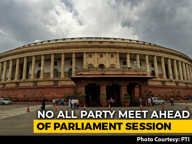 Video : No All-Party Meet Before Tomorrow's Parliament Monsoon Session