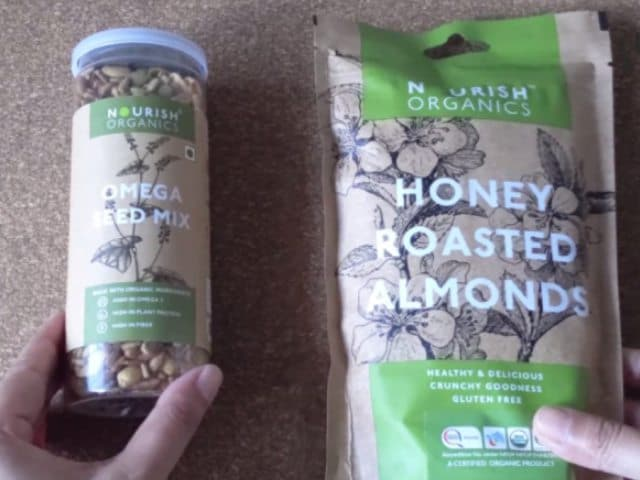 Video : Food Product Review: Nourish Organics Honey Roasted Almonds And Omega Seed Mix