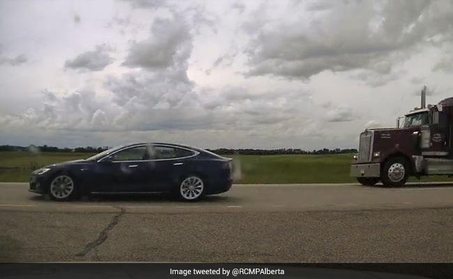 Driver Found Asleep As Self-Driving Tesla Car Breaks Speed Limit: Cops