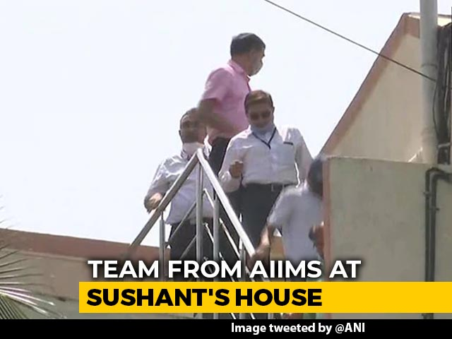 Video : Probe Agency Takes AIIMS Team To Sushant Rajput Home For Forensic Examination