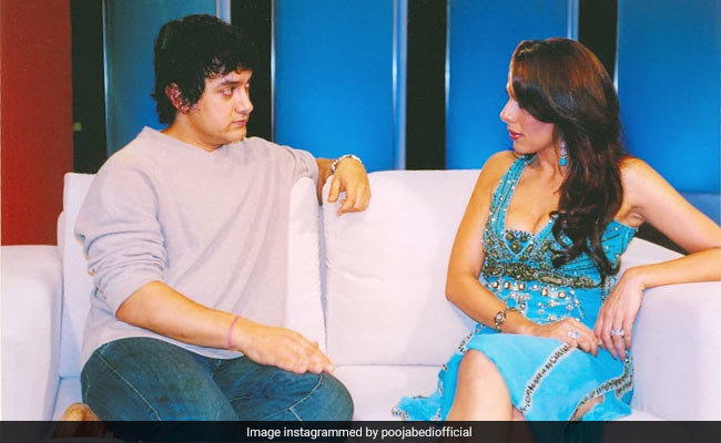 Just A Throwback Pic Of 'Happy Souls' Aamir Khan And Pooja Bedi
