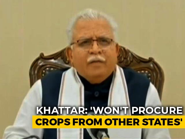 Video : BJP-Ruled Haryana Refuses Crop From States, In Conflict With Farm Laws