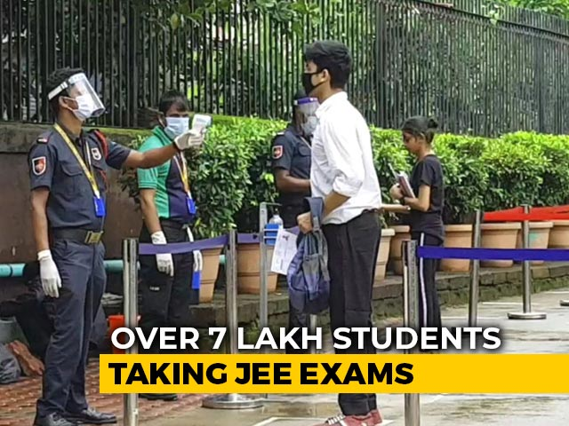 Video : Entrance Exam For IITs Begins Today; Masks, Social Distancing At Centres