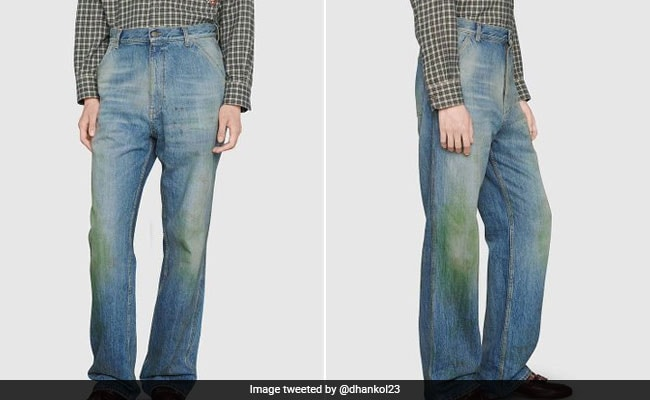 Twitter In Disbelief Over $1,200 Gucci Jeans With Fake Stains