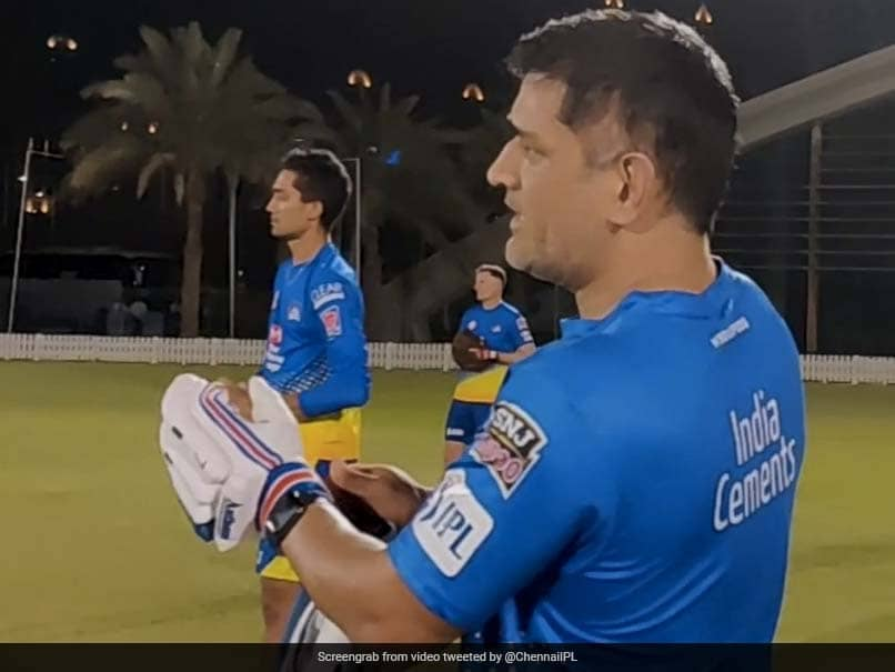 """Net. Set. Go!"" MS Dhoni, Other CSK Stars Sweat It Out In Night Training Session. Watch"
