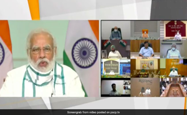 PM Modi Meets Chief Ministers Of Seven States With High COVID Cases