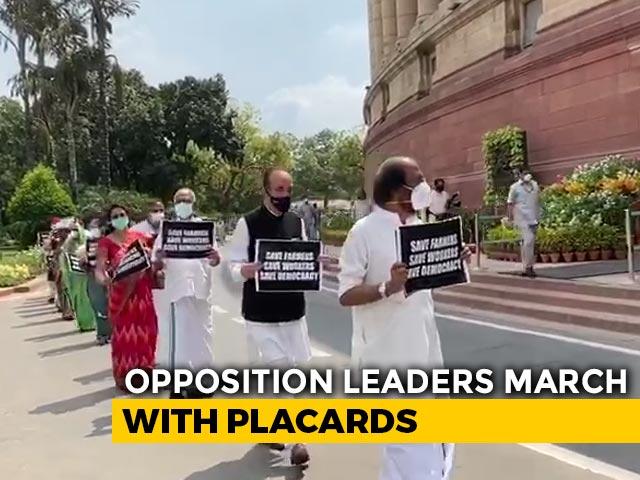 Video : Opposition To Meet President At 5 PM On Farm Bills Amid Parliament Boycott