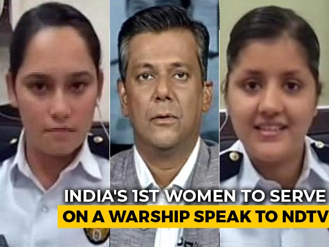 "Video : ""Breaking Barrier Today"": Navy's 1st Women Combatants Posted On Warships"
