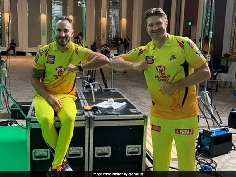 """Duo Arm Distance"": Shane Watson, Faf du Plessis Maintain Social Distancing During CSK Photo Shoot"