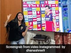 Watch: Chahals Fiancee Dhanashree Reacts To His Man Of The Match Award