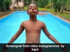 युग देवगन ने स्विमिंग पूल में लगाई उल्टी छलांग, काजोल ने बर्थडे पर Video किया शेयर, बोलीं- मुझे सब पता है...