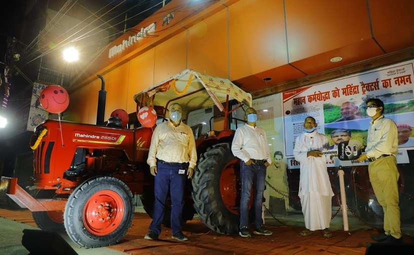 Loungi Bhuiyan received a new Mahindra tractor free of cost