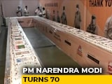 Video : 71 Kg Cake Cut On PM Modi's Birthday