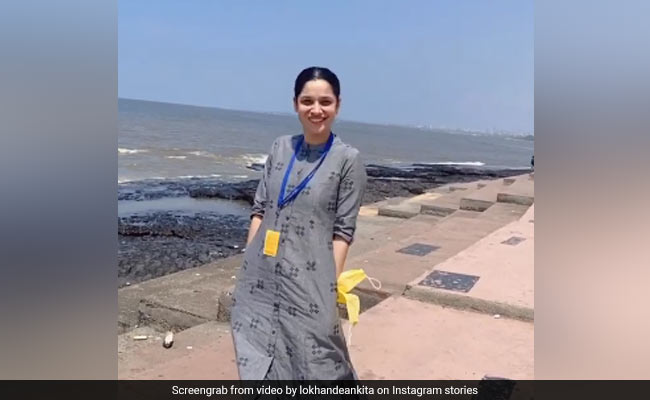 In Pics: Ankita Lokhande's Day Out At The Beach With Her Mom